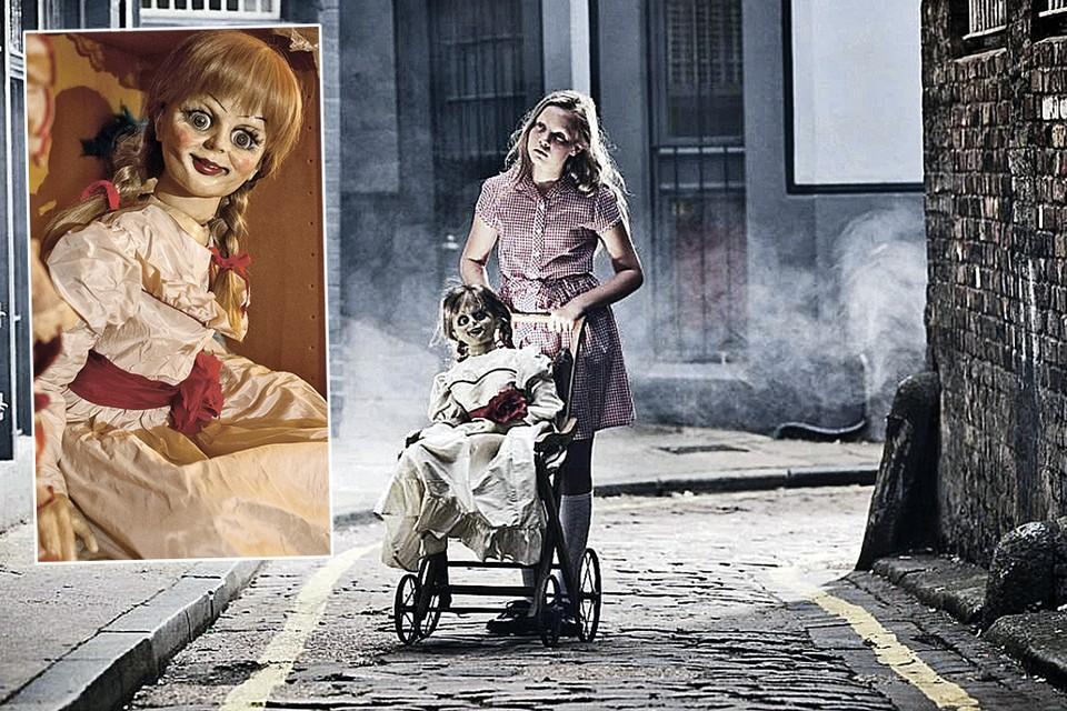 В кино жуткая кукла похожа одновременно на девочку и на бабушку.