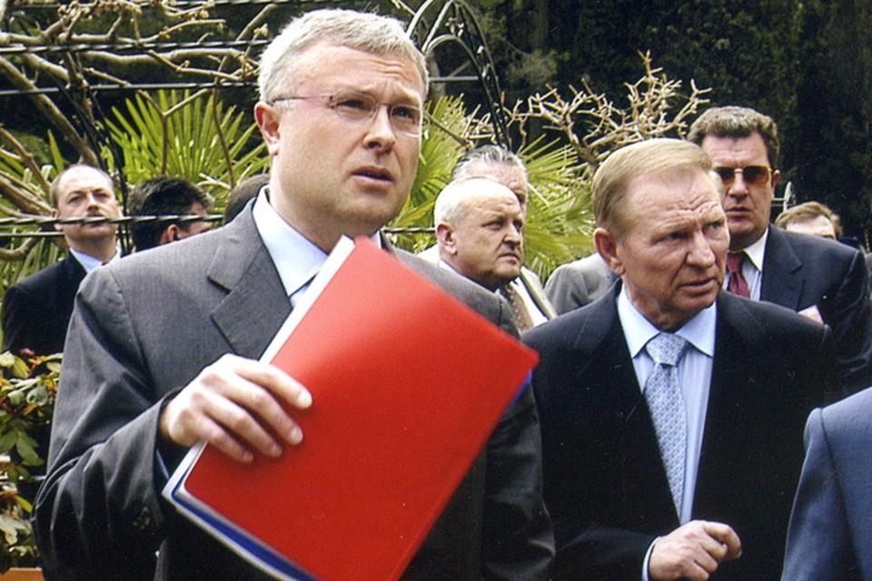 Александр Лебедев и Леонид Кучма.