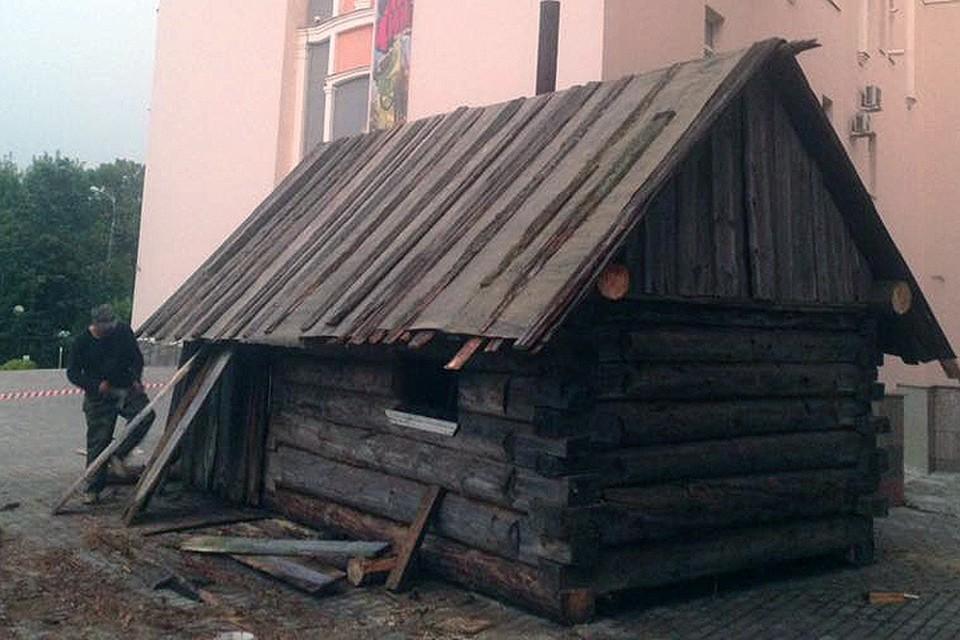 Домик прибыл к стенам музея из деревни Усть-Поча Кенозерского национального парка. Фото Дарвиновский музей