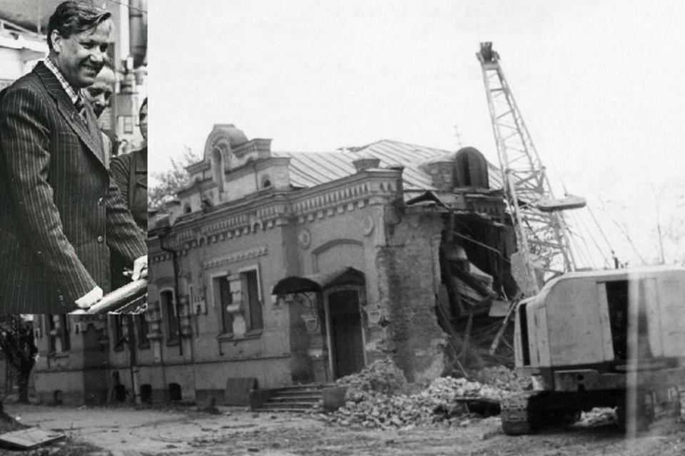 22 сентября 1977 года по приказу Ельцина снесли дом Ипатьева. Фото: архив Свердловской области