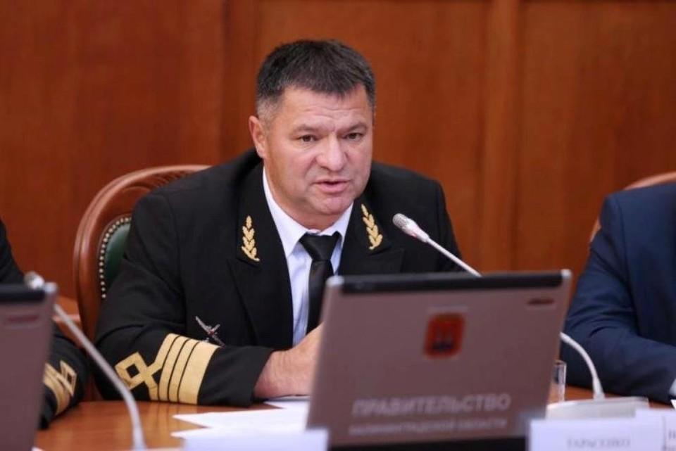 фото: rosmorport.ru ВПРИ губернатора Приморья Андрей Тарасенко.