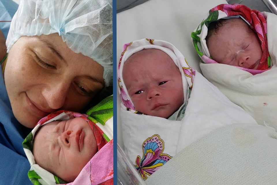 Родившая тройню Анастасия Аксянова поделилась воспоминаниями о самом ответственном дне. ФОТО Личный архив