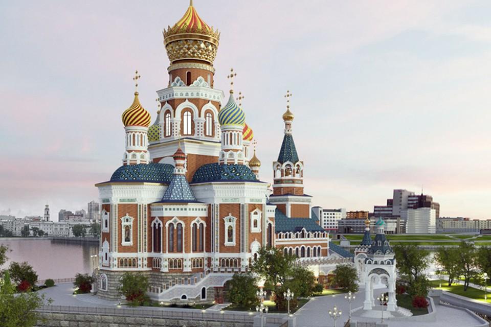 Храм святой Екатерины может разместиться посреди прогулочной зоны на берегу Исети