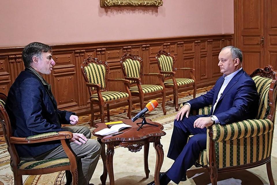 Президент Додон обещает промолдавскую власть в союзе с Россией