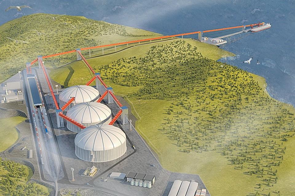 Так будет выглядеть Тихоокеанский балкерный терминал.