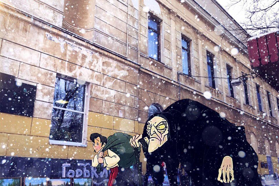 Нижегородец показал приключения Карлика Носа в Нижнем Новгороде. Фото: Никита НИКИТИН