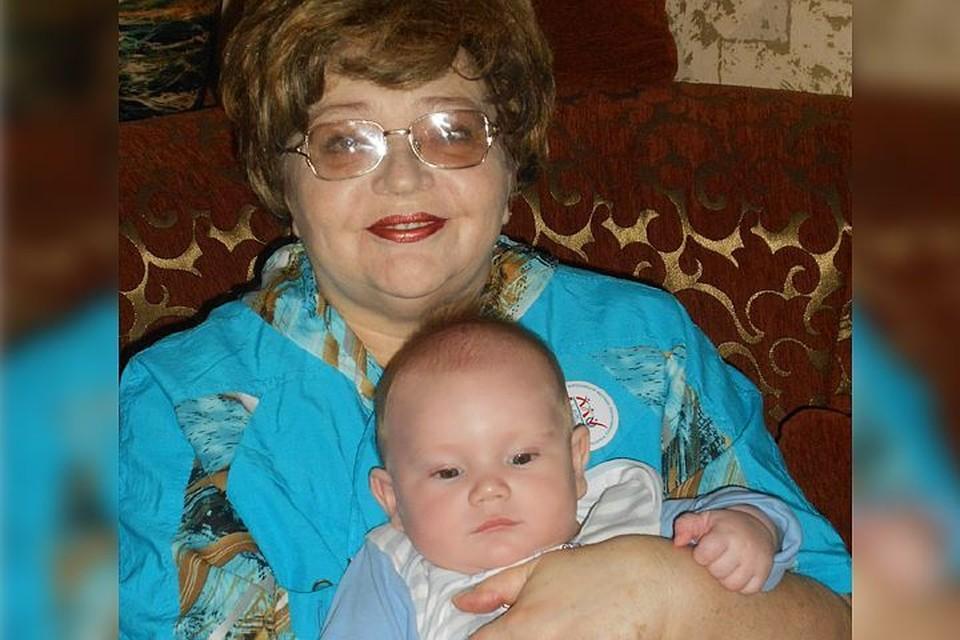 Людмила Янина с внуком Кирюшей