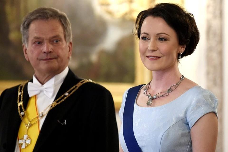 Президент Финляндии Саули Ниинистё с супругой Йенни Хаукио