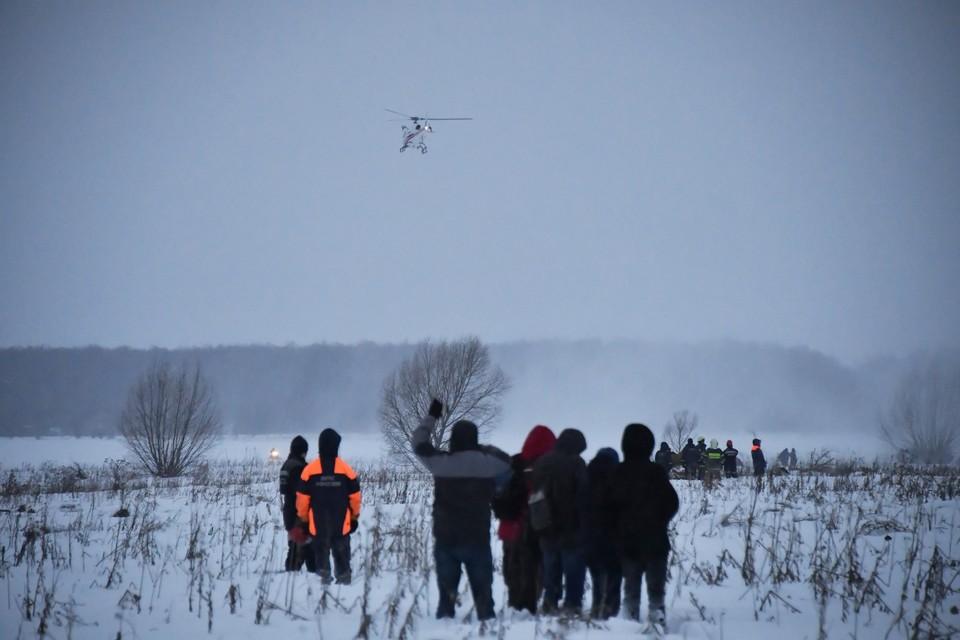 Место крушения самолета АН-148