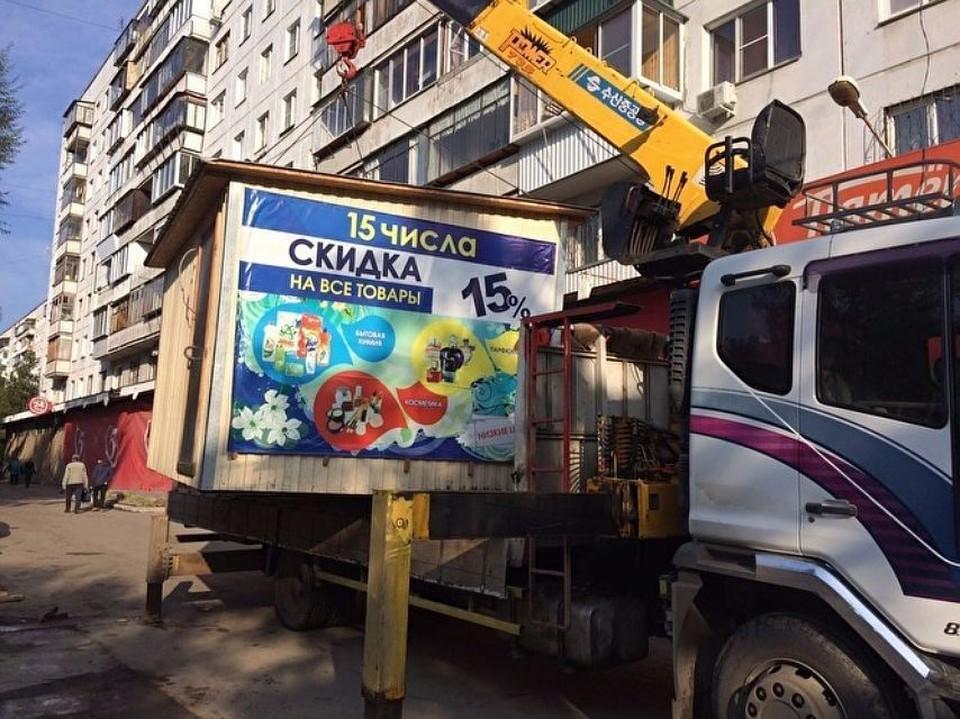 """Ларьки """"бегают"""" по городу, как избушка на курьих ножках. Фото: пресс-служба администрации Челябинска."""