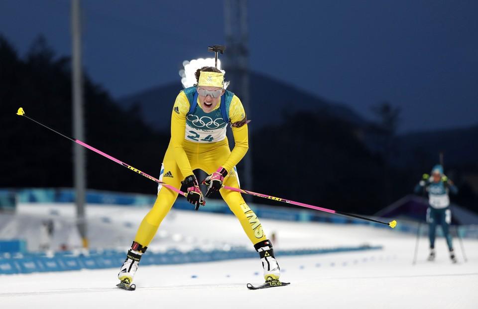 Шведская биатлонистка выиграла Олимпиаду.