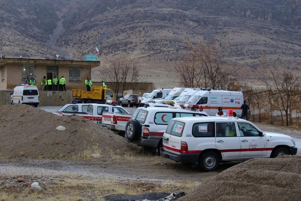 Поисковая операция после крушения самолета ATR-72 в Иране