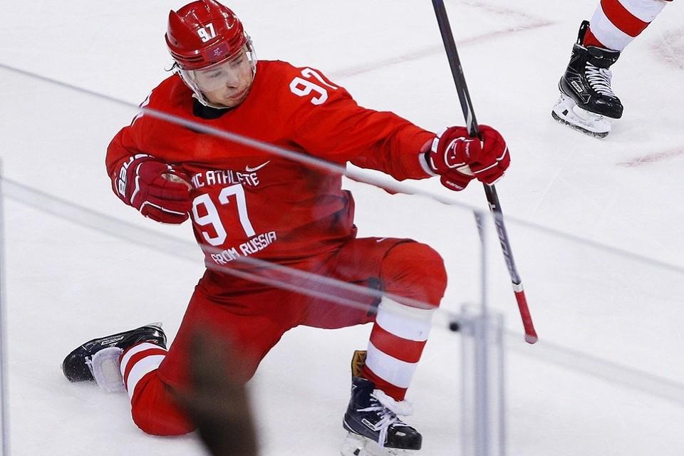 Российский хоккеист Никита Гусев