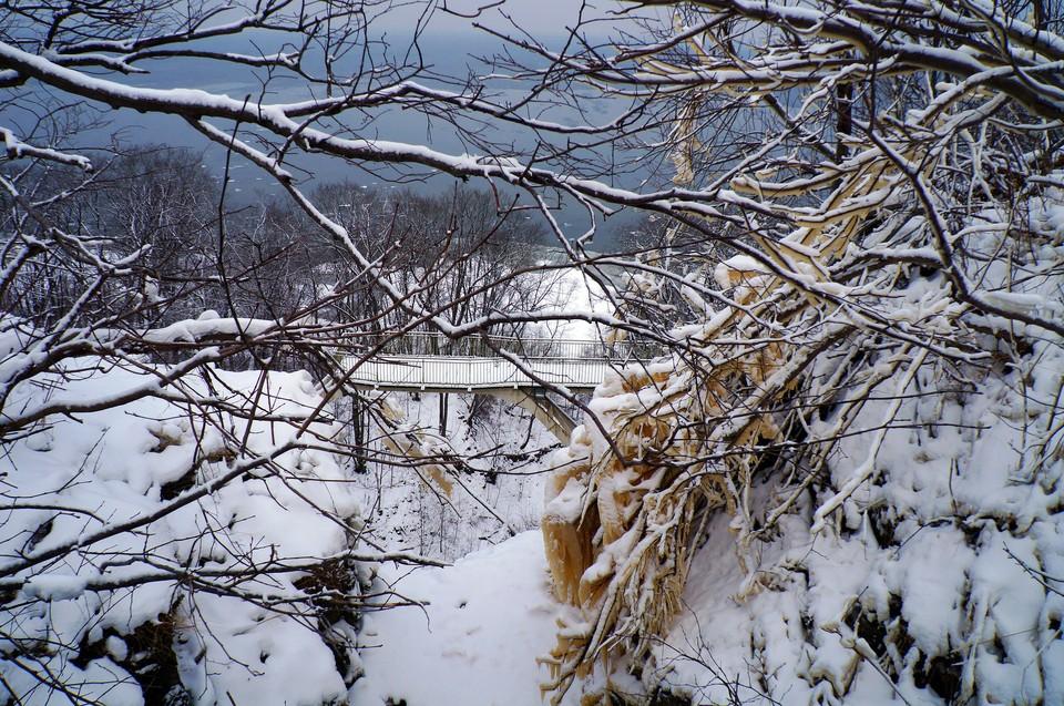 Один из символов Эстонии – водопад Валасте – находится как раз в регионе Ида-Виру. Фото: Павел Прокофьев.