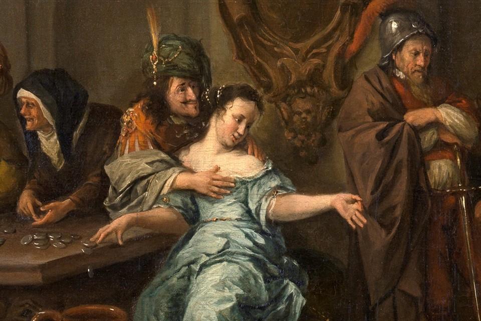 Картина голландца Яна Стена дает некоторое представление о науке соблазнения среди мещан и дворян.