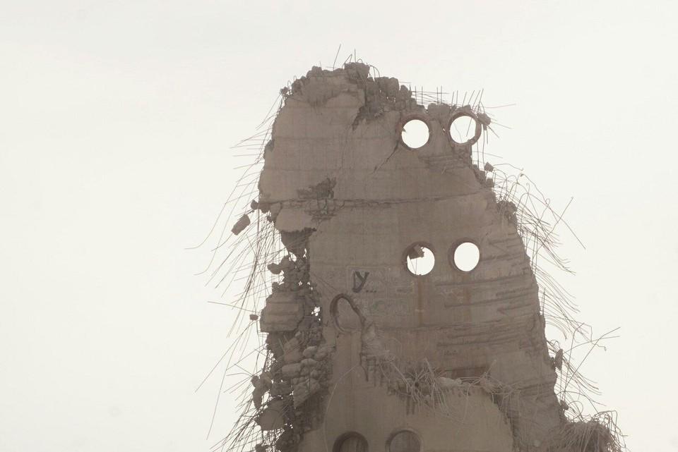Вот и все, что осталось от башни.
