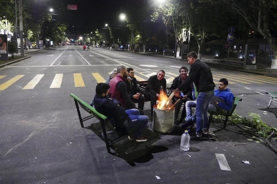 Уличные протесты в Ереване продолжаются