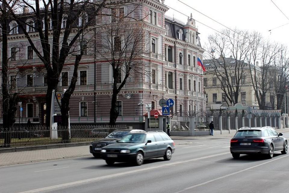 Здание российского посольства в Риге