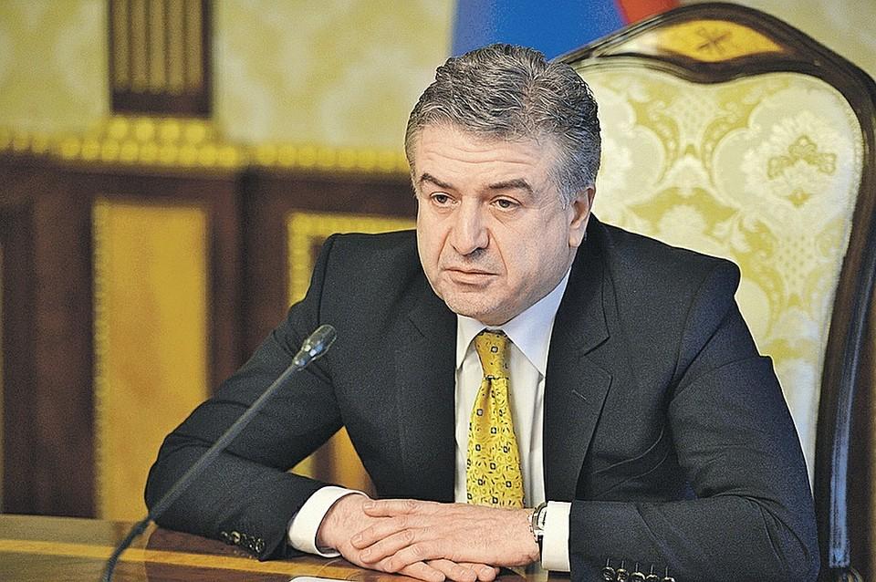 Врио премьер-министра Армении Карен Карапетян