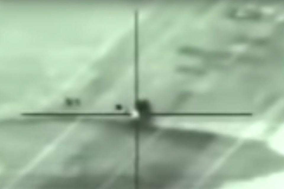 Пресс-служба израильской армии опубликовала видео, на котором запечатлен ракетный удар.