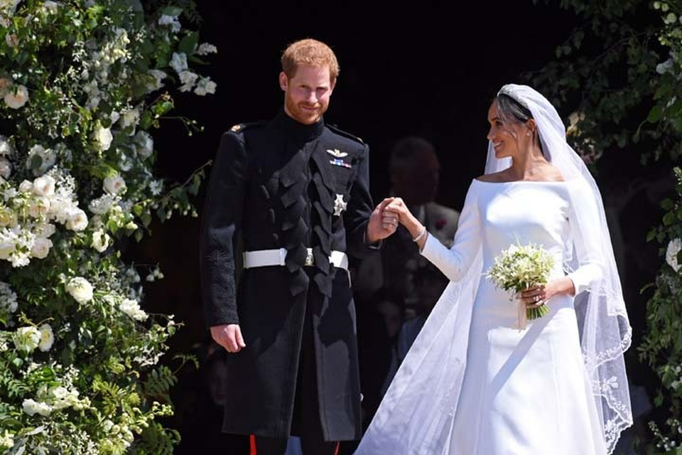 Британский принц Гарри и актриса Меган Маркл 19 мая в Виндзоре официально стали мужем и женой