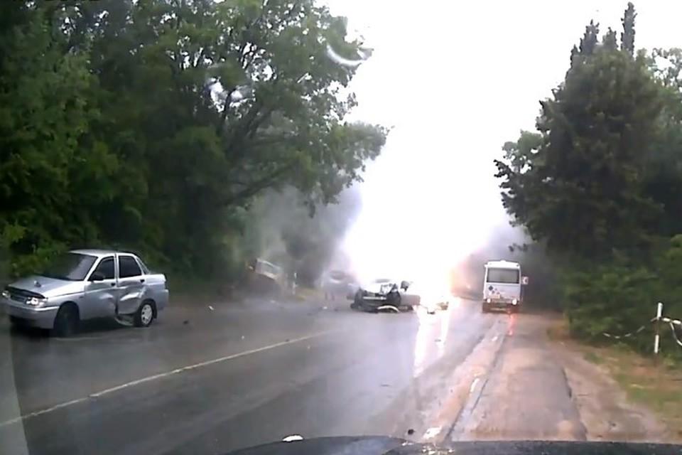 Скриншот с видео от очевидца