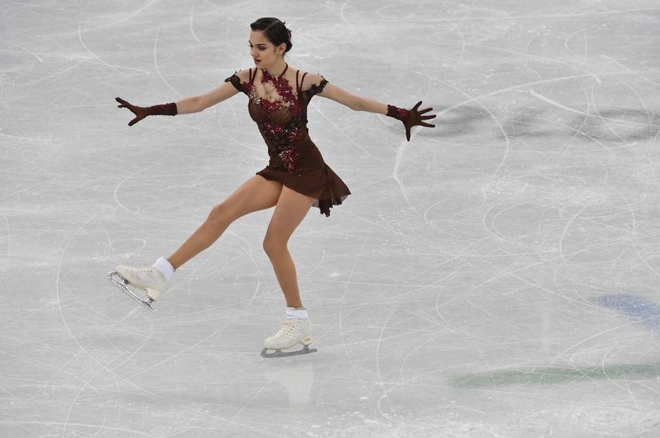 Евгения Медведева на Олимпиаде 2018 в Пхенчхане.