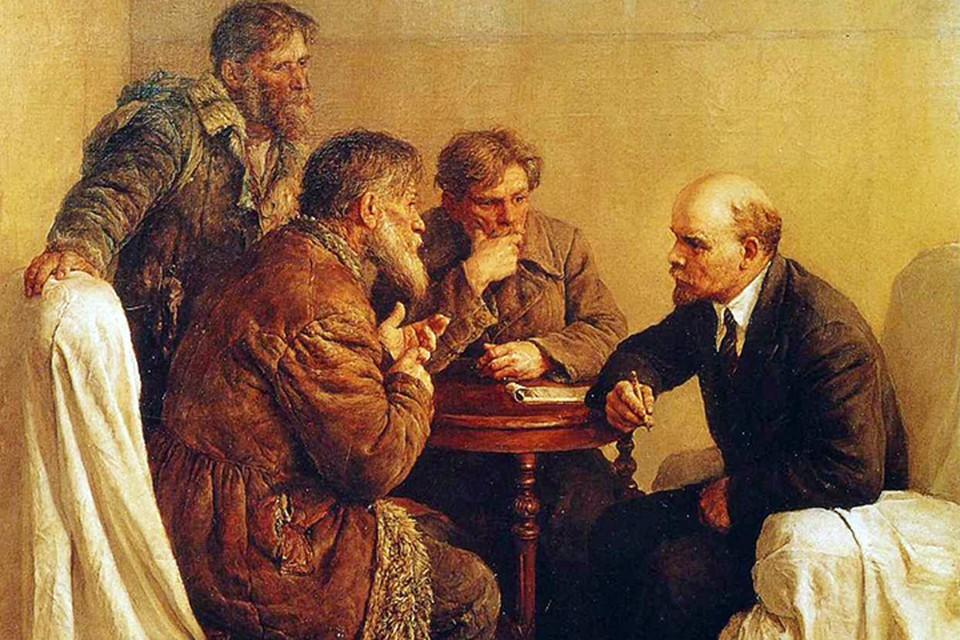 Формат общения Владимира Ленина отображен на знаменитой картине Владимира Серова «Ходоки у Ленина»