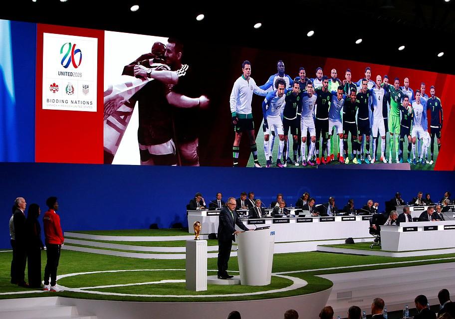 США, Канада и Мексика вместе примут Чемпионат мира по футболу в 2026 году.