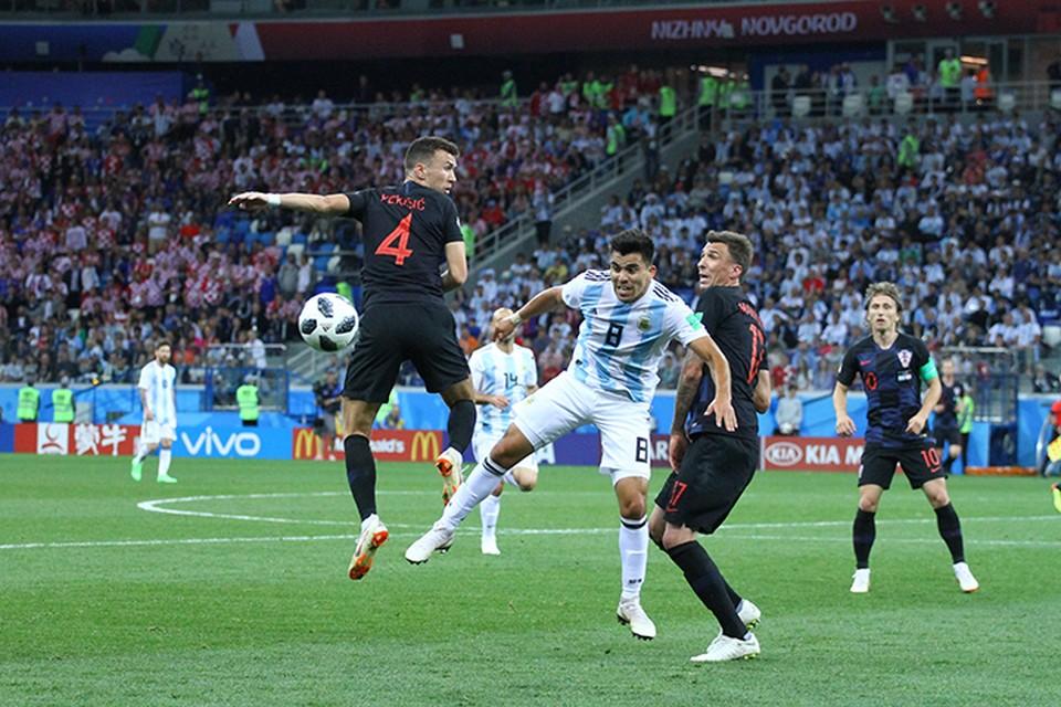 В отличие от игры Швеции с Кореей матч Аргентина - Хорватия получился зрелищным