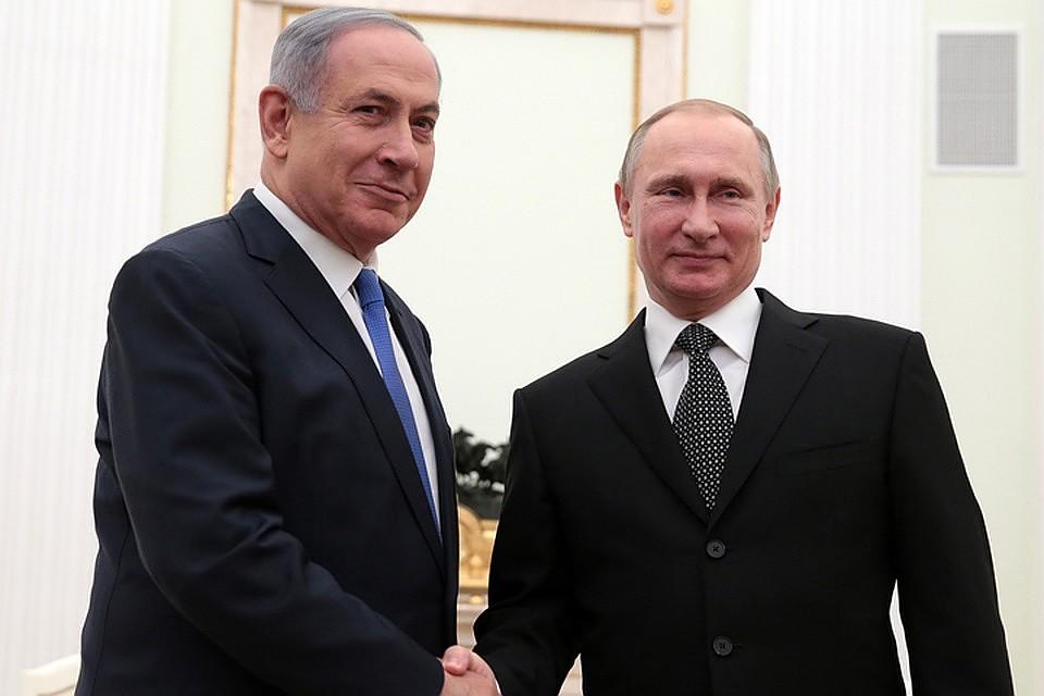 Беньямин Нетаньяху и Владимир Путин. Фото: Михаил Метцель/ТАСС