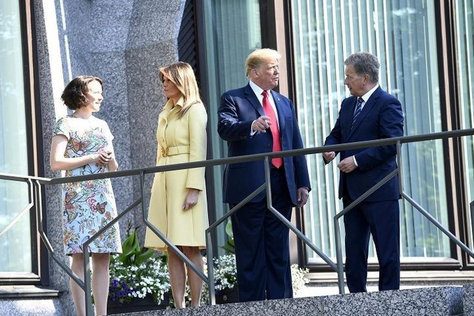 Президент Финляндии Саули Ниинисте встретился со своим американским коллегой Дональдом Трампом