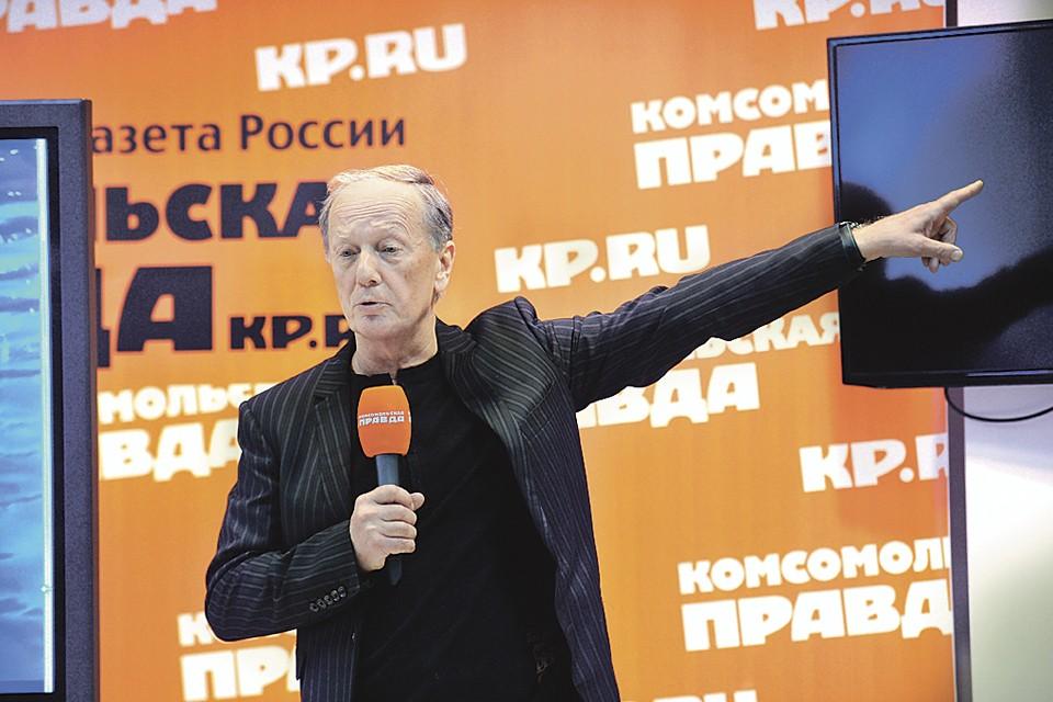 Михаил Задорнов представляет в редакции «Комсомольской правды» свой документальный фильм «Вещий Олег. Обретенная быль».