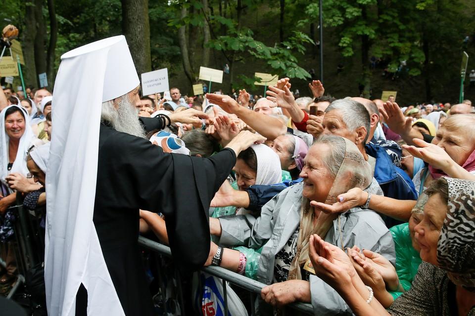 На Владимирской горке состоялся молебен за упокой душ погибших при трагических событиях 2014 года