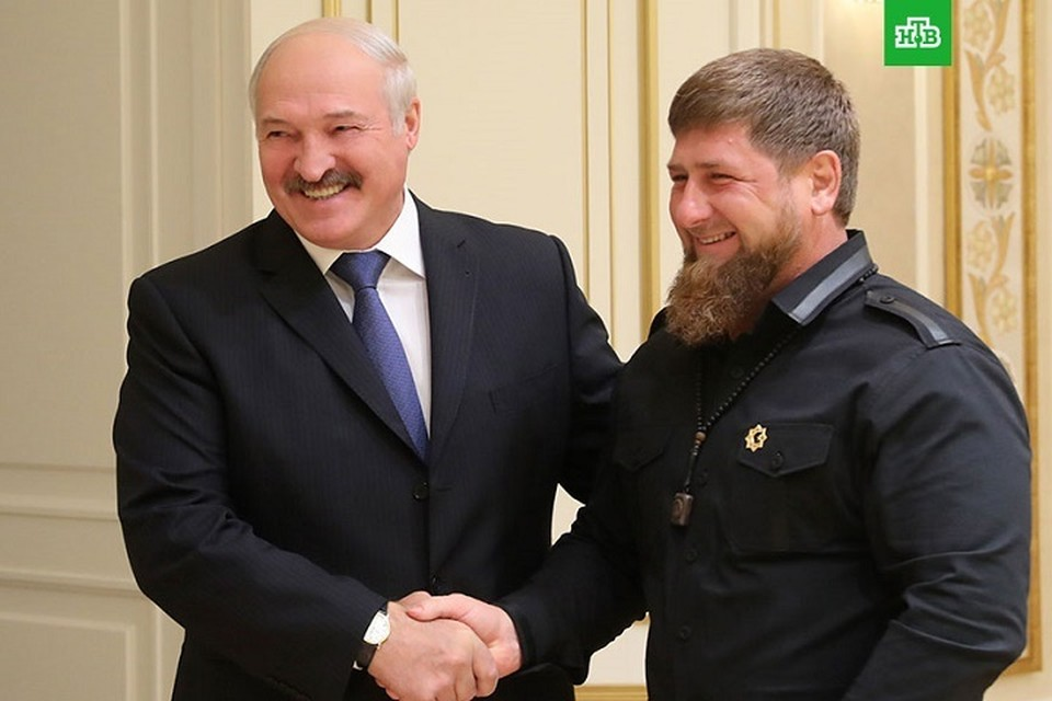 Александр Лукашенко и Рамзан Кадыров. Минск, сентябрь, 2017 год. Фото: ntv.ru.