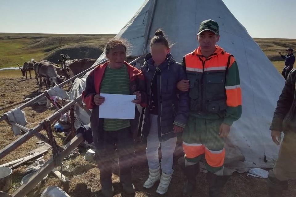Светлану Евай забрали сегодня со стойбища для оказания медицинской помощи. Фото СУ СК РФ по ЯНАО