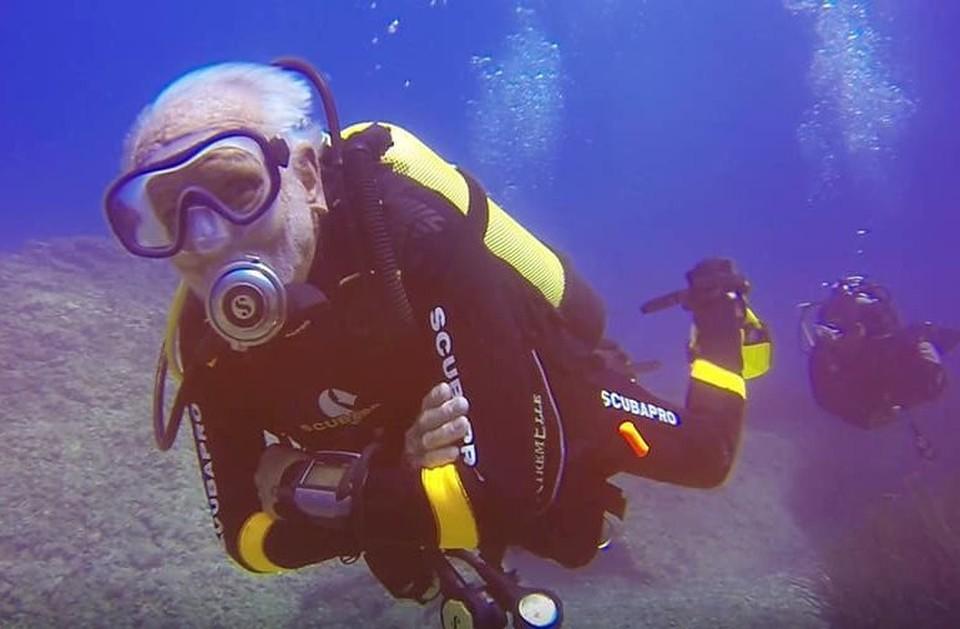 Самый пожилой дайвер на планете живет Кипре