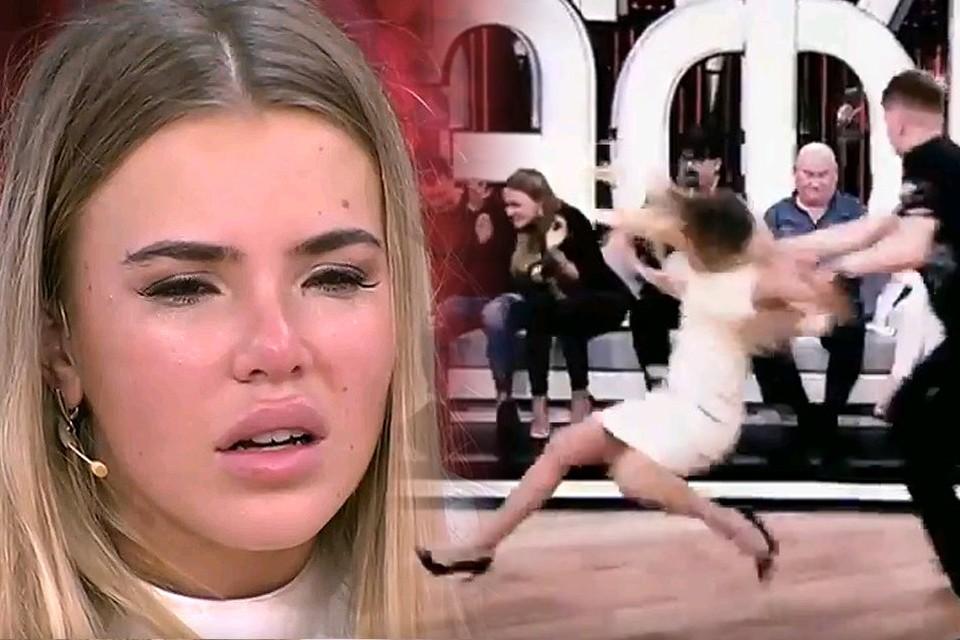 Дарья Друзяк в эфире передачи Прямой эфир Андрея Малахова.