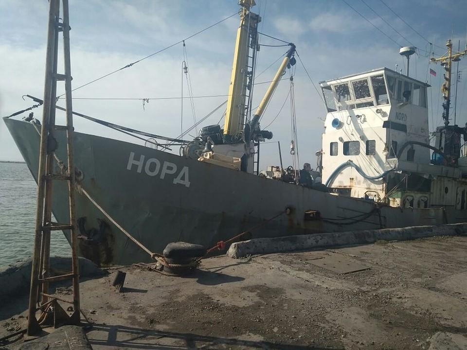 Судно до сих пор ошвартовано в украинском Бердянске. Фото: Госпогранслужба Украины