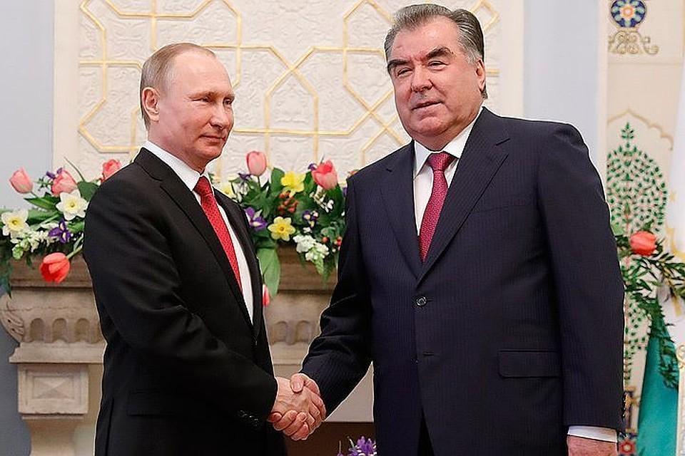 Президент России Владимир Путин и глава Таджикистана Эмомали Рахмон. Фото: Михаил Метцель/ТАСС