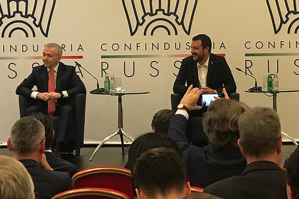 Сальвини подверг жёсткой критике нынешний европейский порядок и политику Брюсселя, продолжающего вражду с Москвой