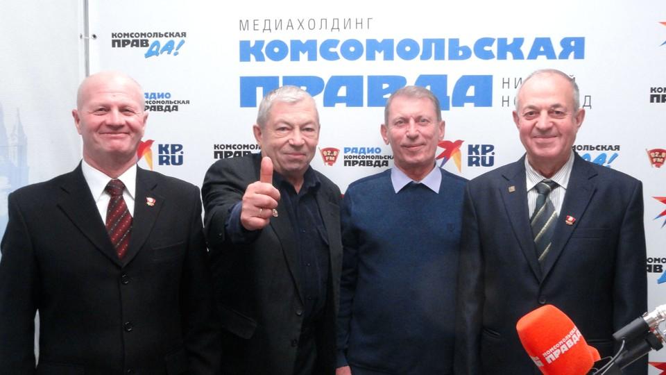 Ветераны пограничной службы, полковники в отставке Борис Сундуков, Николай Торгашов, Георгий Рогоза и Анатолий Сомов