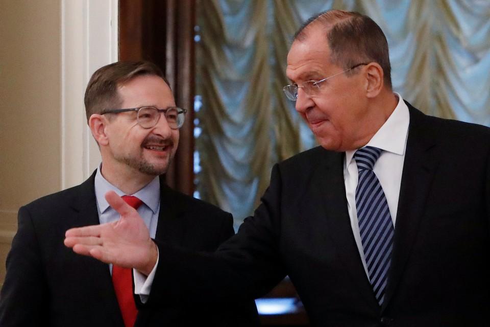Томас Гремингер и Сергей Лавров.