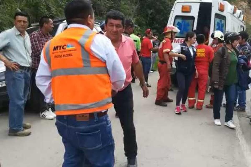 По предварительным данным, автобус потерял управление, после чего упал в пропасть. Фото: YouTube/ Tuitealo