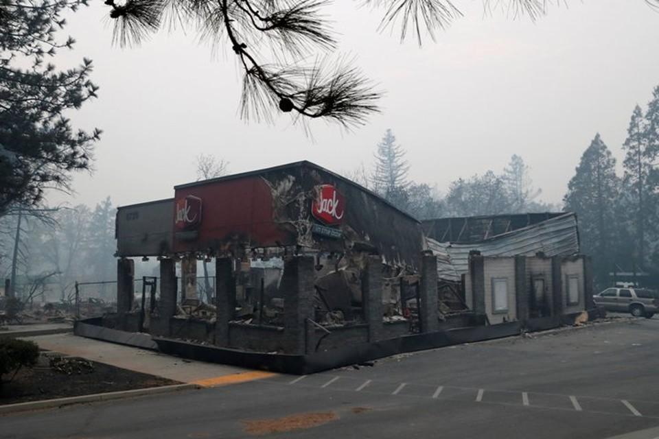 Сгоревший в Парадайсе ресторан