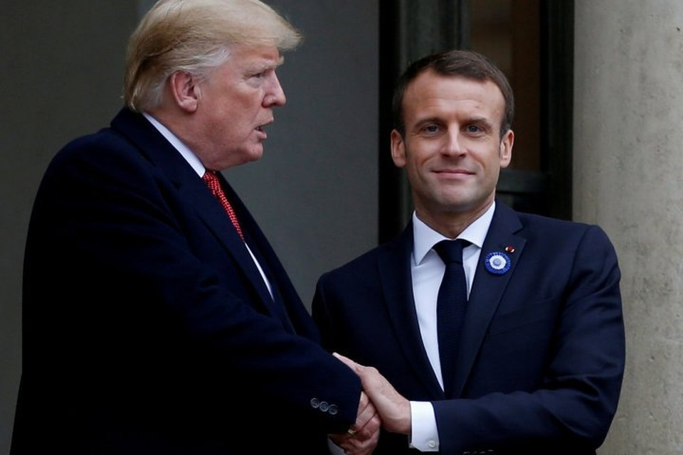 Президенты США и Франции на встрече в Париже