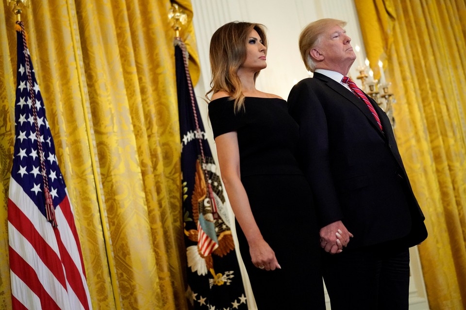 Меланья Трамп с супругом Дональдом