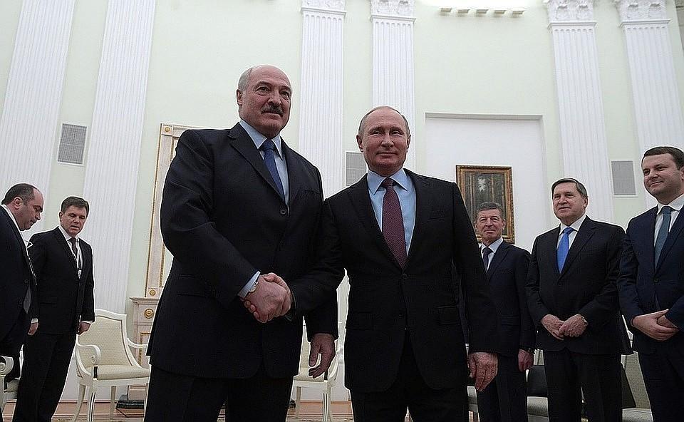 Владимир Путин и Александр Лукашенко во время встречи 25 декабря. ФОТО: пресс-служба президента