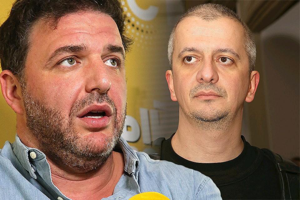 Конфликт в кафе Максима Виторгана (слева) и Константина Богомолова обернулся рукоприкладством.