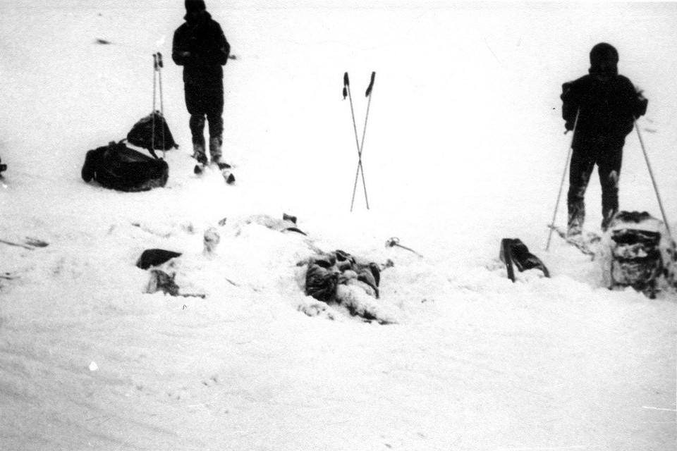 Место, где нашли первых погибших лыжников.